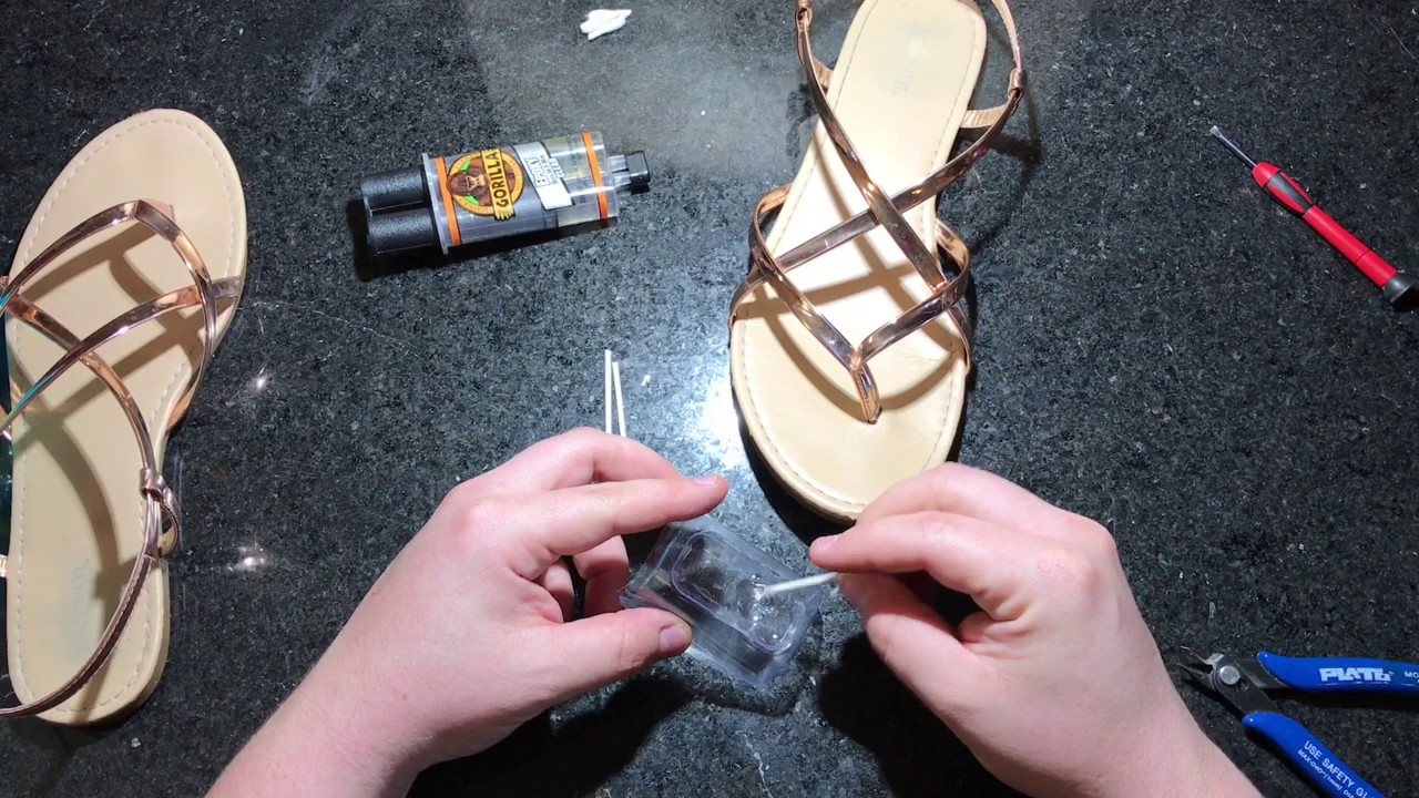 47eda764bf77 How to fix Sandals - YouTube