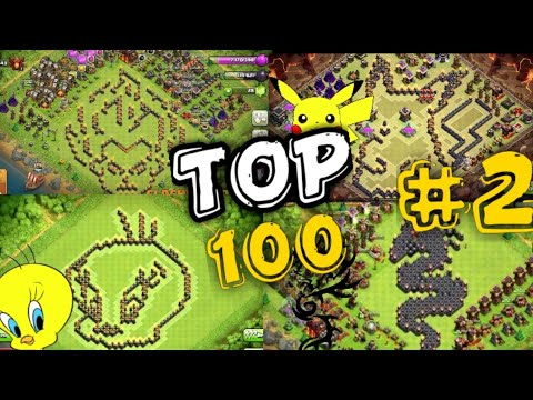 BEST/WEIRD/FUNNY BASE DESIGNS COMPILATION IN CLASH OF CLANS.
