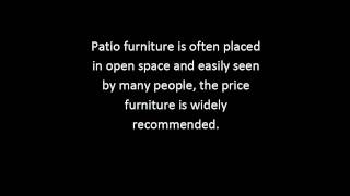 Discount Outdoor Patio Furniture Tips | Discount Patio Furniture Guide