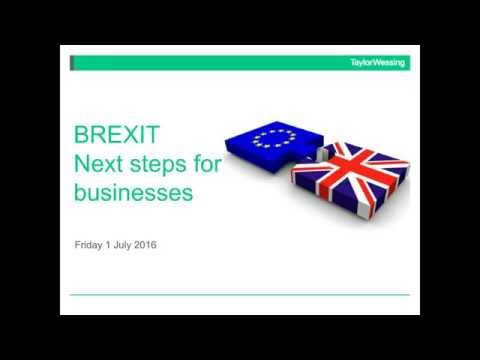 Brexit - next steps for businesses