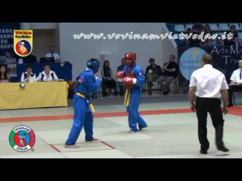 Vovinam Fight with K.O. - VIETNAM vs FRANCE -60 kg - Knock outs