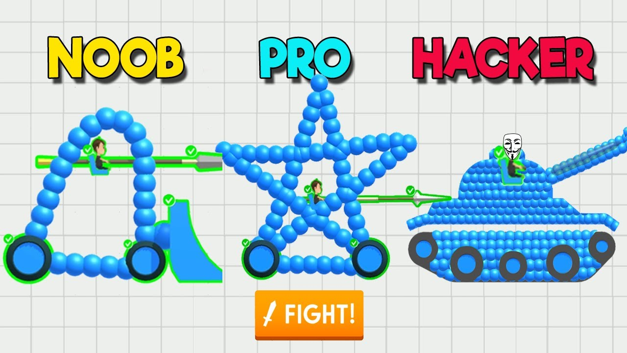 Download NOOB vs PRO vs HACKER - Draw Joust and all levels.
