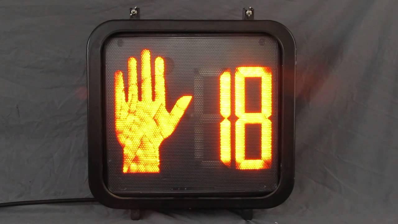 Newer Ge Countdown Pedestrian Traffic Signal