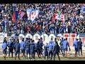 """Así fue el """"banderazo"""" de los hinchas de U. de Chile en la previa del Superclásico"""