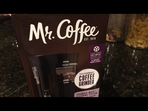 Mr. Coffee Programmable Coffee Grinder Unboxing
