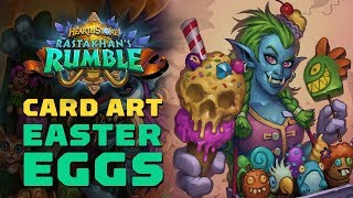 Hidden Details in the Card Art for Hearthstone's Rastakhan's Rumble