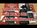 Unboxing mifi HKM 001 plus lihat cara settingnya