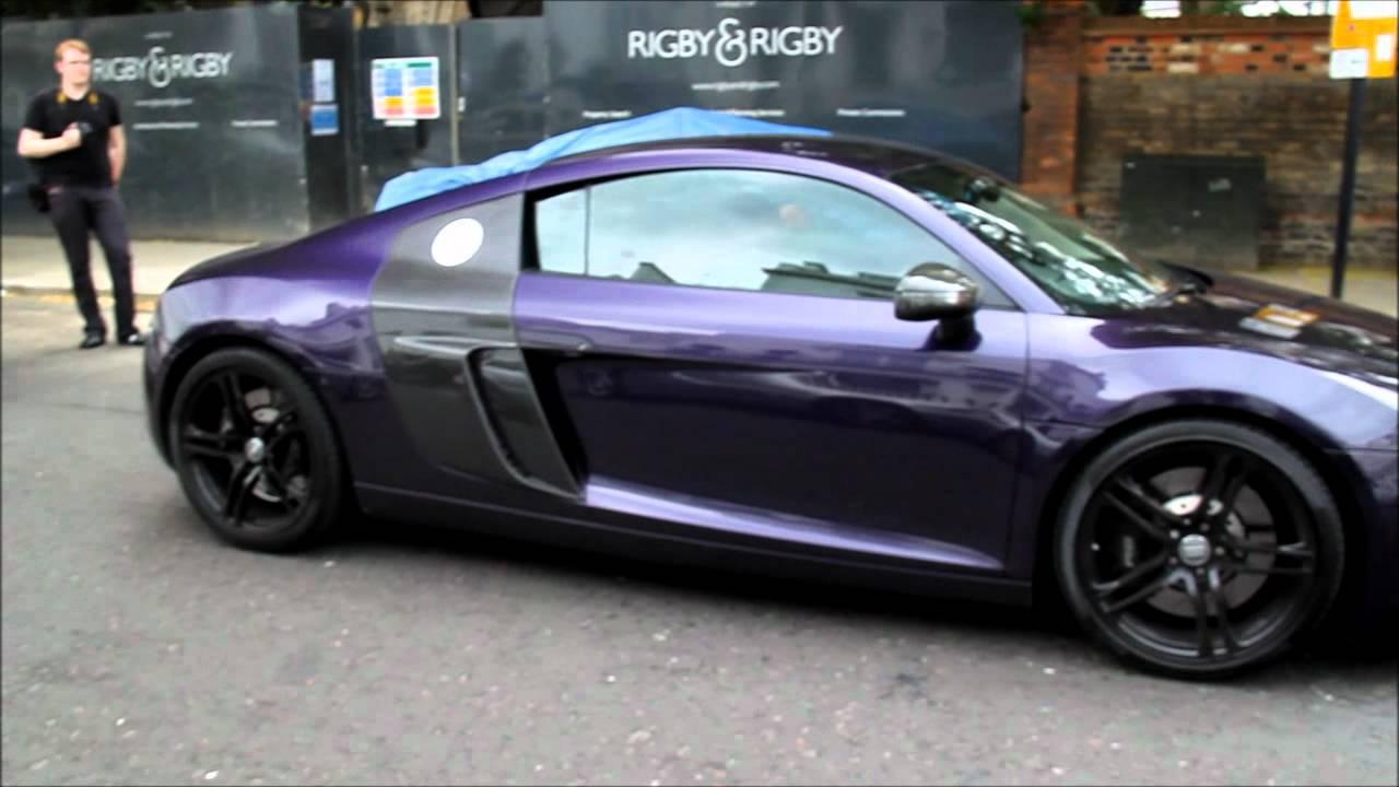 Purple Audi R8 With Tubi Stage 3 Exhaust Insane Sound