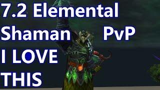 WoW - 7.2 Elemental Shaman PvP - I LOVE Elemental - Battleground w/Commentary