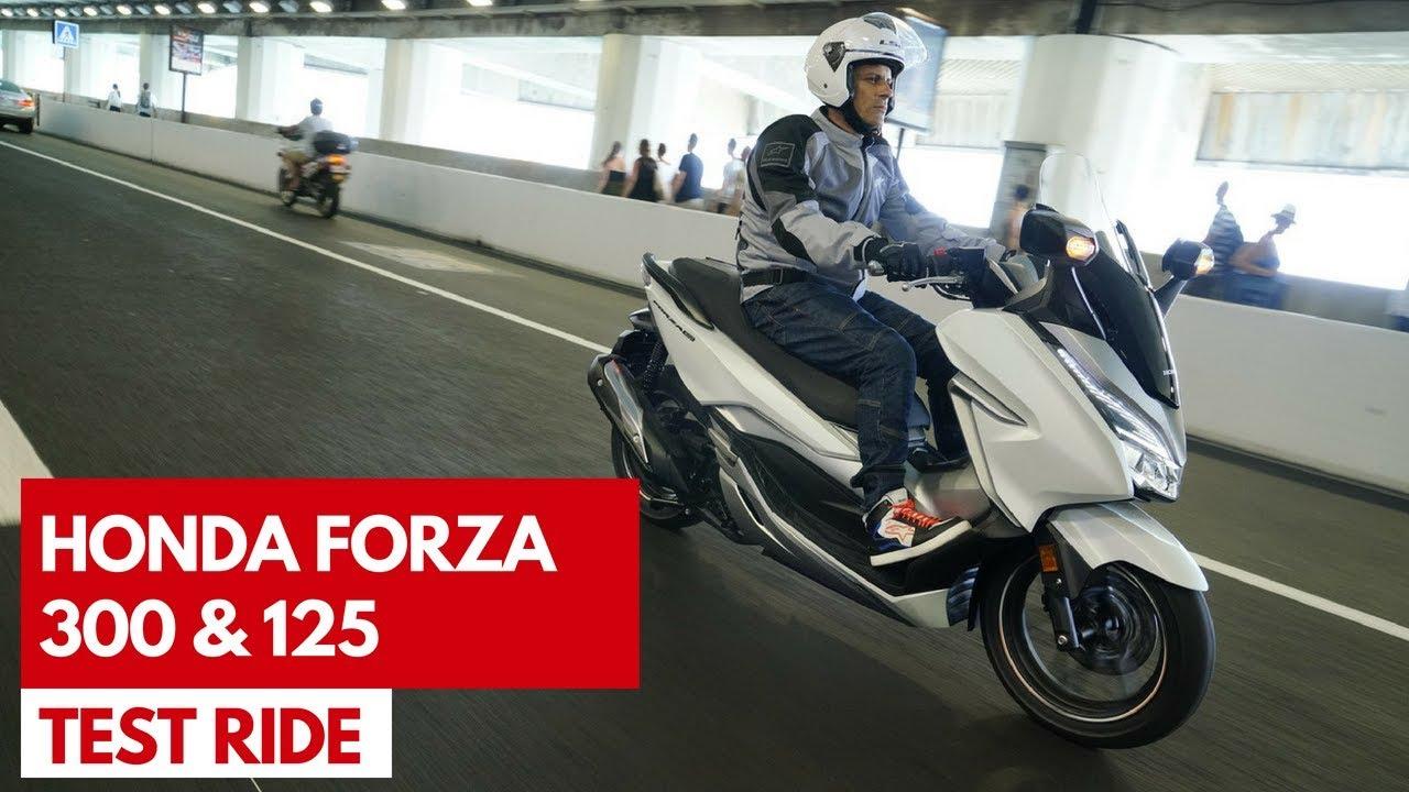 Honda Forza 300 E 125 2018 Test Ride Del Nuovo Scooter 300 Con