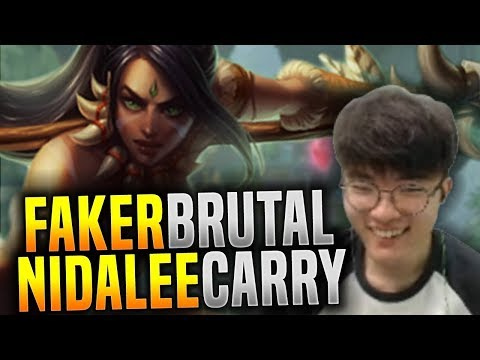 FAKER the BRUTAL CARRY with NIDALEE Jungle!