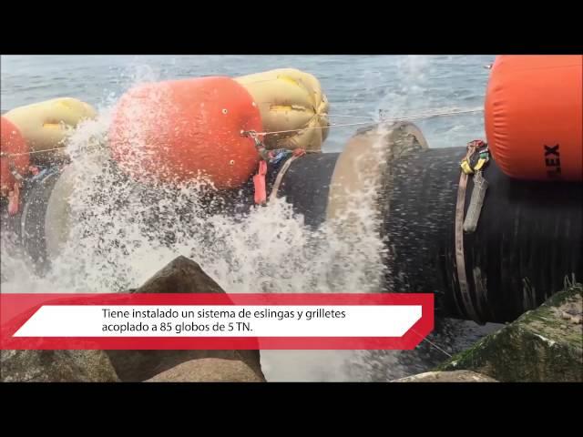 Lanzamiento del emisario submarino de la EDAR de La Chira, Perú | ACCIONA