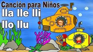 Canción lla lle lli llo llu - El Mono Sílabo - Videos Infantiles - Educación para Niños #