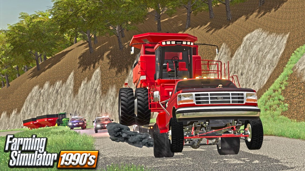 OVERLOADED AND RUNNING (FORD POWER HOOPING) 90s ERA | FARMING SIMULATOR 19