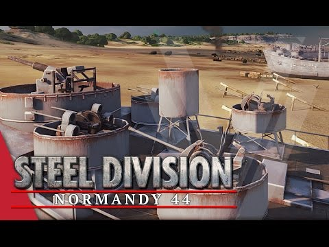Life's a Beach! Steel Division: Normandy 44 Beta Gameplay #21 (Omaha, 4v4)