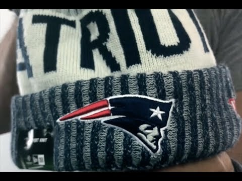ea6af44456b Patriots  2017 STADIUM BEANIE  Navy Knit Hat by New Era - YouTube