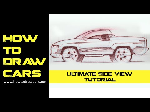Car Design Drawings - Secrets to a Better Side View Drawing