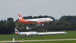 DUS Airport – Flugzeug Start / Landung – Flugzeuge starten und landen auf Flughafen Düsseldorf