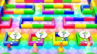 Mario Party 10 MiniGames - Mario Vs Rosalina Vs Daisy Vs Peach (Master Difficulty)