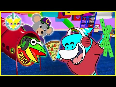 Roblox Chuck E Cheese GAMES + PIZZA Lets Play with VTubers Big Gil Vs Gus