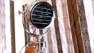 Alayna  - Coast Guard Patrol Nautical Vintage Tripod Floor Lamp