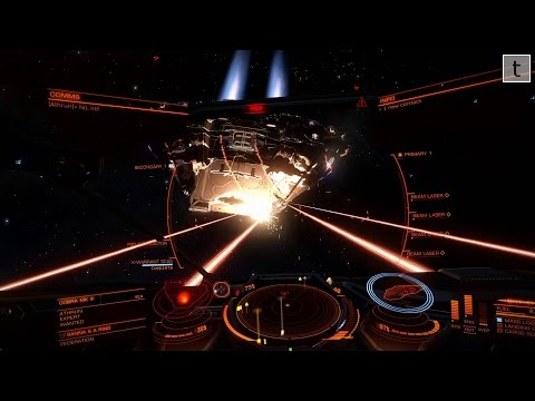 Elite Dangerous: The dark side (of a planetary ring)