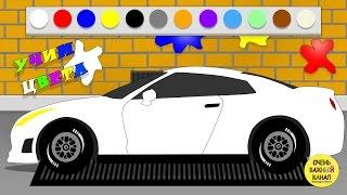 Машинки, автовоз  –  изучение цвета для малышей! Развивающий мультик про машинки(Развивающие мультики про машинки – изучение цвета! Ребята окажутся на автомобильном заводе. Покрасим шест..., 2016-03-06T20:56:08.000Z)