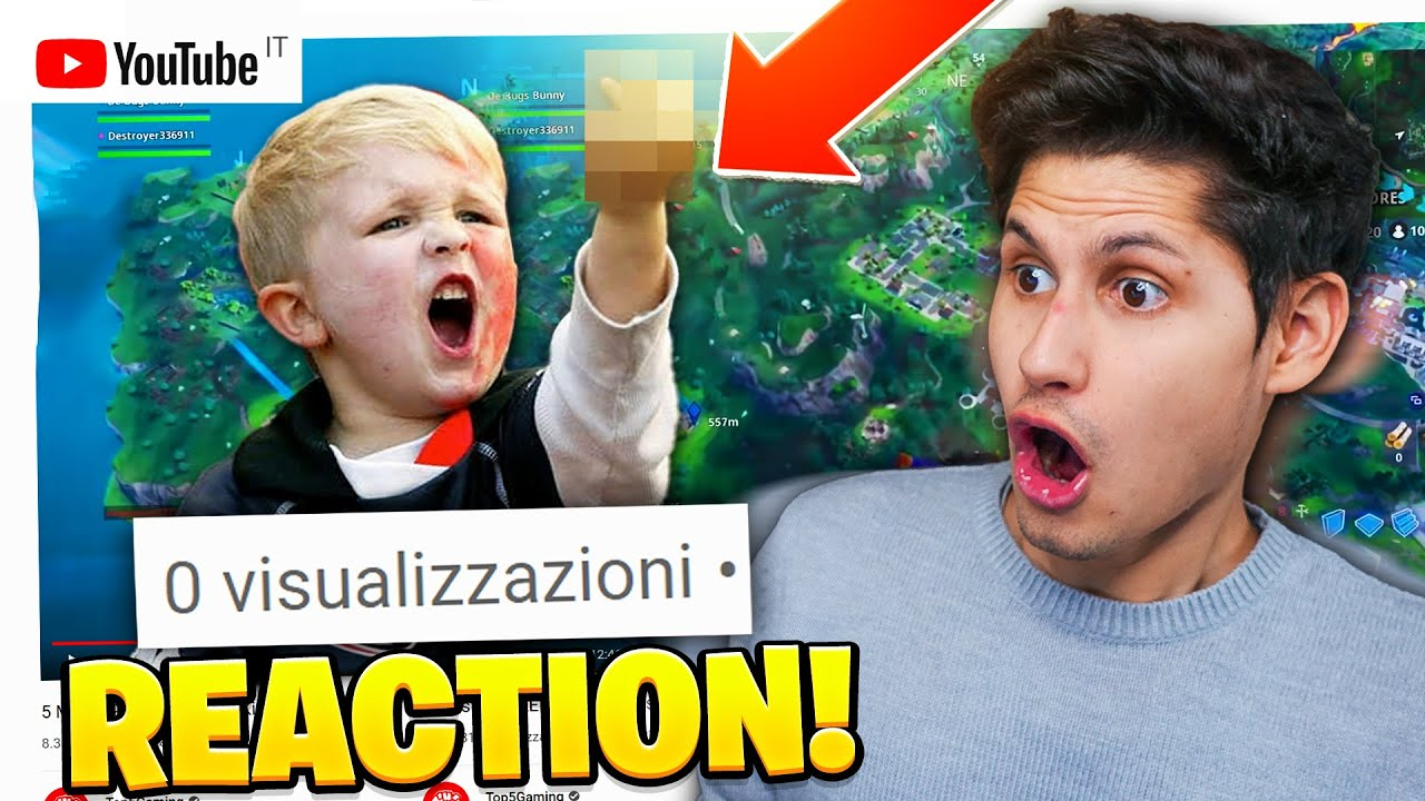 Reagisco ai video di FORTNITE con 0 VIEWS *BAMBINO SCLERA TROPPO*