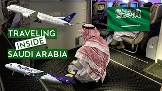 Traveling Inside Saudi Arabia - Saudia B787 and LCC Flyadeal...