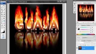 tutorial photoshop letras de fuego con reflejo por 0o0guajita0o0