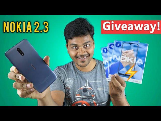 Nokia 2.3 Unboxing & GIVEAWAY ⚡ ⚡ Rs.8,200 - ¡Garantía de reemplazo GRATUITA de 1 año! + vídeo