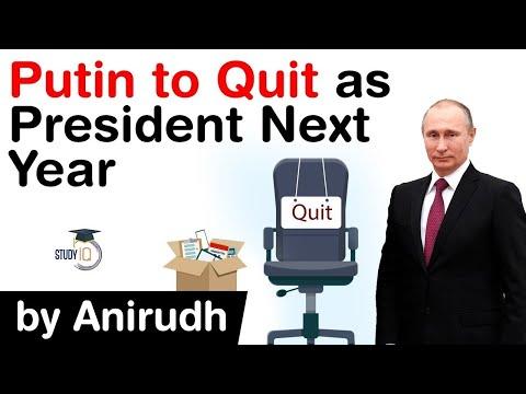 Vladimir Putin to resign as Russian President next year, Why