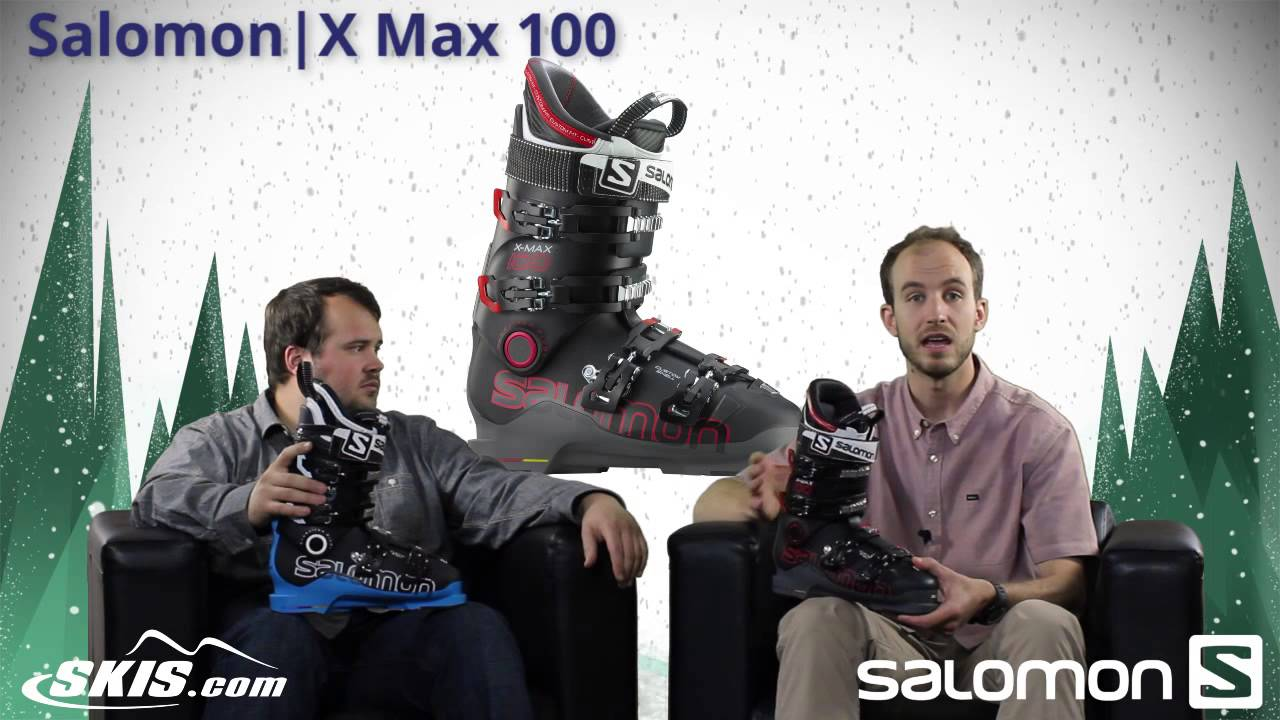 2015 Salomon X Max 100 and 120 Mens boot Overview by SkisDOTcom