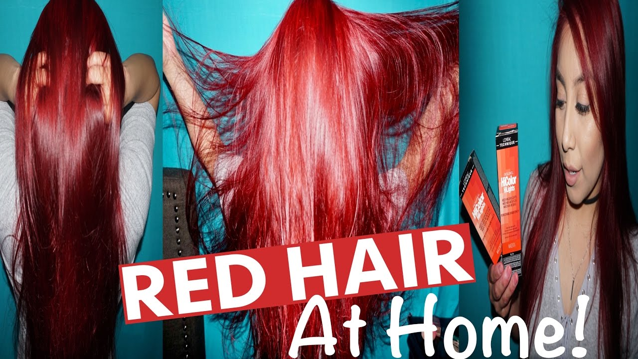 How To Dye Hair Red Without Using Bleach Loreal Hicolor