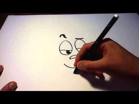 Dessiner un visage vantard - Dessin de cartoon