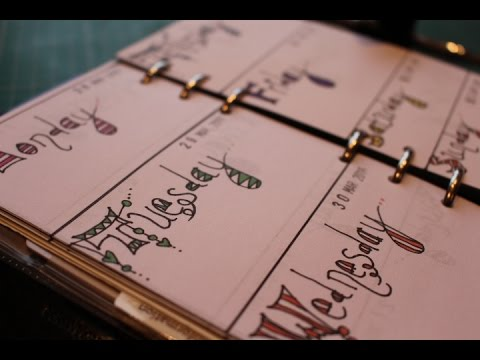 Make your own Planner Diary Pages