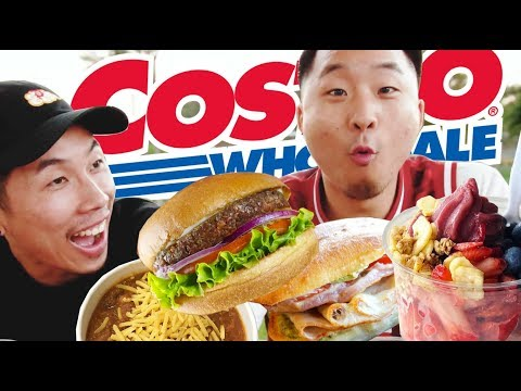 TRYING COSTCO'S NEW FOOD COURT MENU (No More Polish! Acai Bowl, Burgers) // Fung Bros