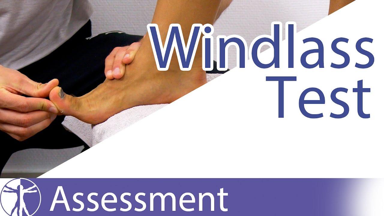 5bf47b9c54 The Windlass Test | Plantar Fasciitis - YouTube