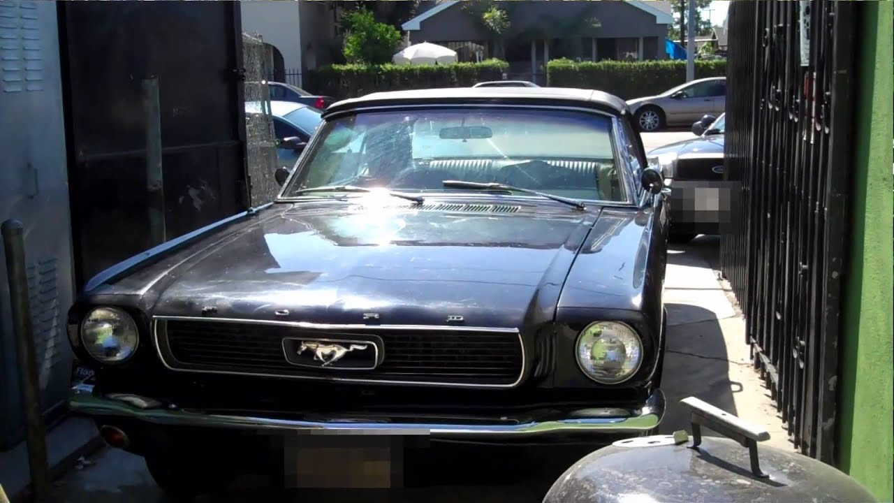 Stolen 1966 Ford Mustang Convertible Recovered by LoJack