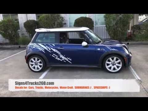 Video N12 How To Easy Install Splash Kit Side Decals Graphic Mini Cooper Or Any Car