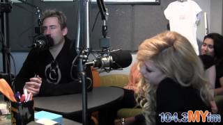 Avril Lavigne and Chad Kroeger Interview at 104.3FM [LET ME GO Premiere]