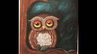 Easy Owl Beginners Acrylic Step-By-Step Painting - It