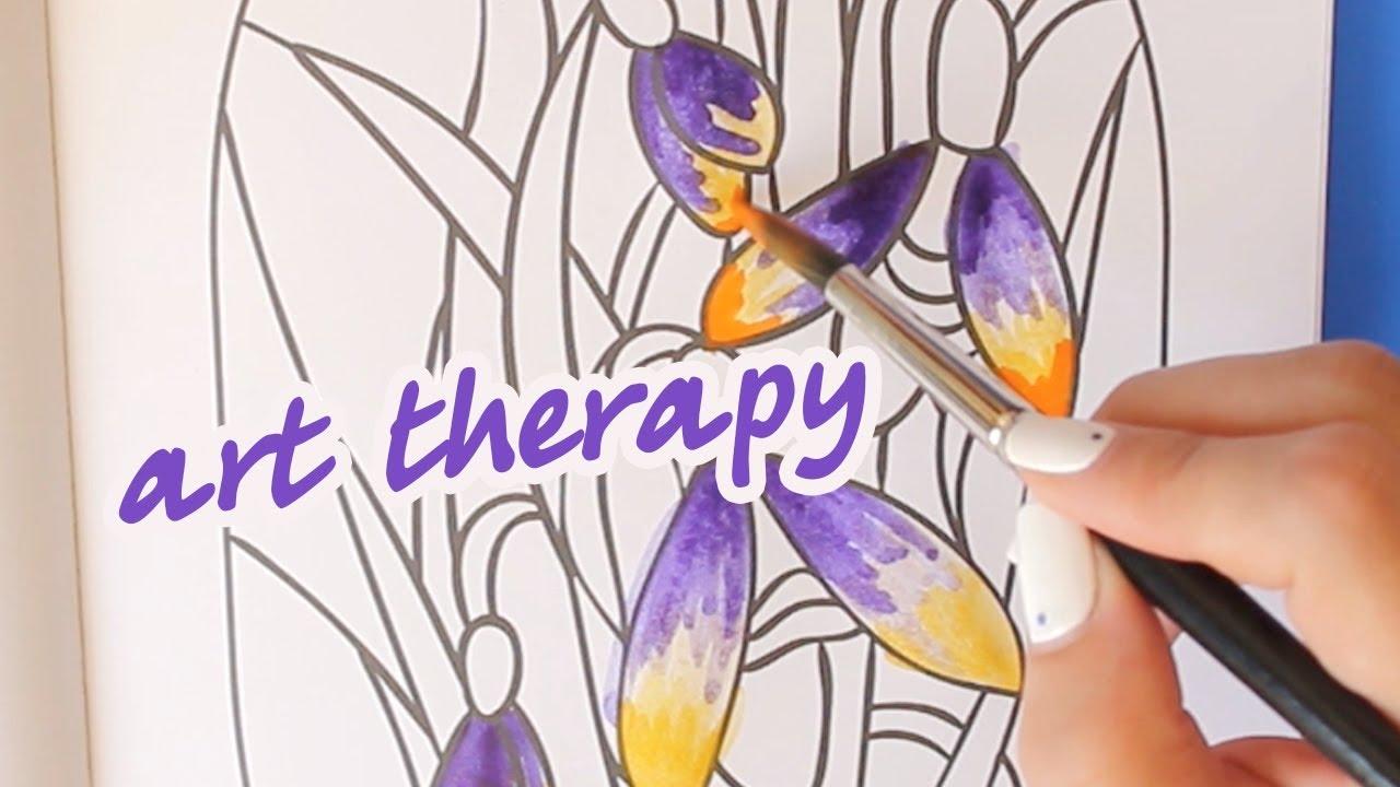 Раскраска антистресс | Арт-терапия | Цветы - YouTube