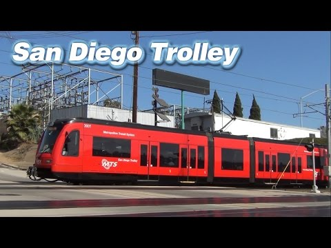 Downtown On The San Diego Trolley