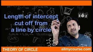 24 Length of intercept cut off from a line by circle