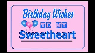 Birthday Wishes To My Sweetheart