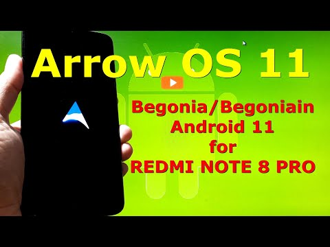 Arrow OS Android 11 Official for Redmi Note 8 Pro Begonia - Custom ROM