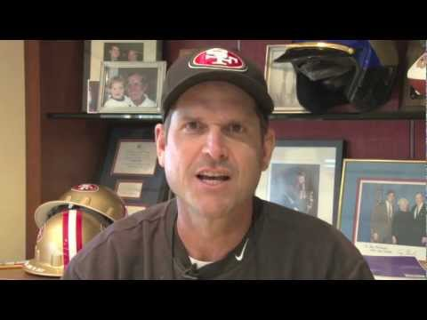 San Francisco 49ers Coach Jim Harbaugh In-Stadium Tribute to Parents