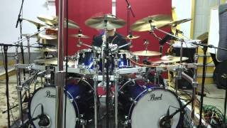 """Jason Bittner """"Godless World"""" - WITHIN THE FIRE- studio session 9/18 PEARL REFERENCE"""
