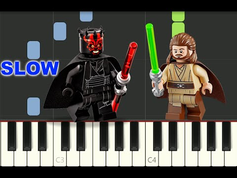 """SLOW Piano Tutorial """"DUEL OF THE FATES"""" From STAR WARS Episode I, John Williams, Free Sheet Music"""